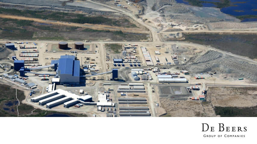 De Beers Victor Mine Process Plant Orientation
