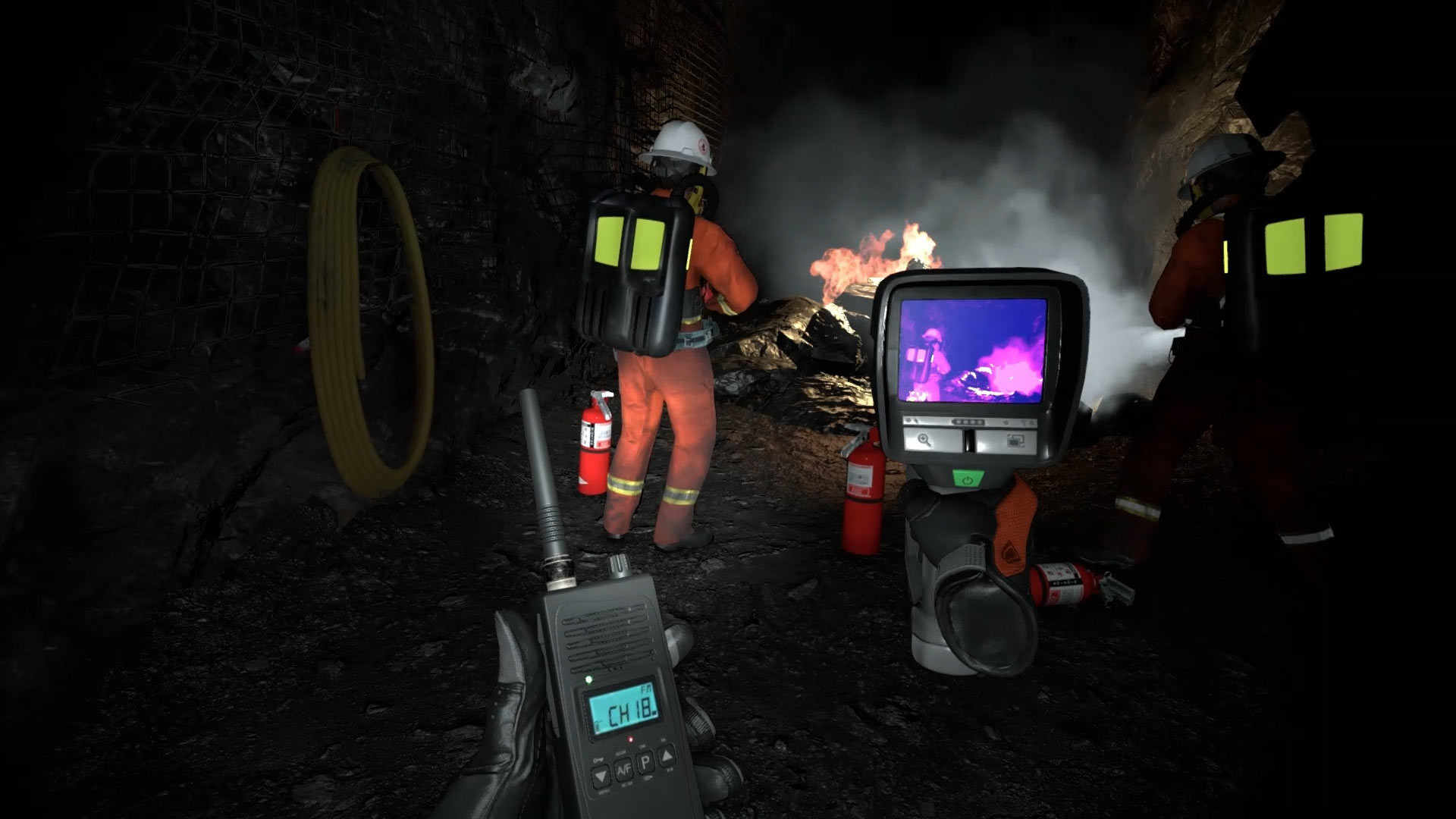 Mine Rescue Team Member - Operating Radio Check - Thermal Camera Inspection (TIC)