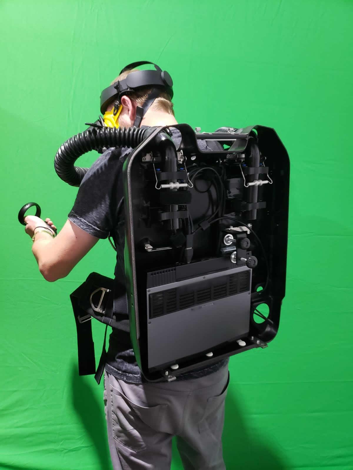 VR/PC Integration into BG4 Rebreather shell